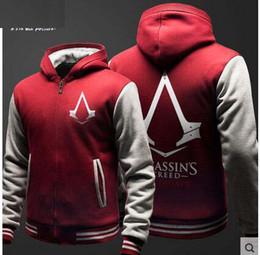 Descuento capas superiores del traje 2016 Assassin's Creed Conner Kenway Chaqueta con capucha Top chaqueta de cosplay traje