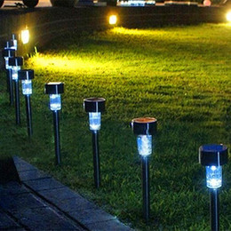 LED Solar Lights Solar Lawn Light Plastic Garden Outdoor Sun Light Corridor Lamp Outdoor Garden Party Lamp Solar Powered Colored Lamps