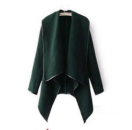 2019 Fall Winter Clothes for Women New European and American Wool & Blends Coats Ladies Trim Personality Asymmetric Rules Short Jacket Coats
