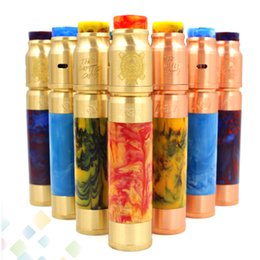 Wholesale Resin AV ABLE Mod Kit Resin Able Mod and Battle RDA Resin Drip Tip Fit Battery Copper Brass DHL Free