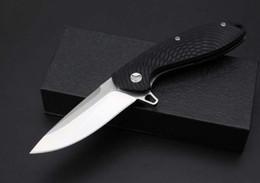 Acheter en ligne Araignées noires-Haut de gamme Spider-Man couteau à billes couteau de verrouillage D2steel lame, acier + G10handle noir boîte cadeau couteau de survie gratuit expédition
