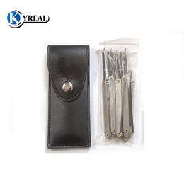 Locksmith Tools Lock Picks GOSO 12pcs Hook Picks Titanium Lock Pick Sets Broken Key Tools Free Shipping