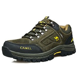 Camel outdoor sports in the fall and winter of male low help shoes waterproof mountain hiking shoes non-skid wear-resisting off-road