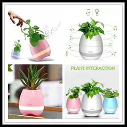 Newset TOKQI Bluetoth Smart Touch Music Flowerpots Plant Piano Music Playing K3 Wireless Flowerpot(whitout Plants) DHL