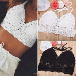 2017 Hot sale Fashion beach underwear lace hand hook flowers bra bikini swimwear