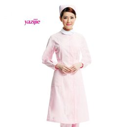 medical Doctor white short-sleeved summer female nurse lab coat pharmacy business attire hairdresser work clothes