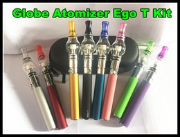 Glass Globe Atomizer EGo T Wax Dry Herb vaporizer ego e cigarette pen glass dome vaporizer pen ego-T battery smoking starter kit