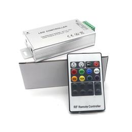 24v диммер панель для продажи-Честный priceX20 DC 12-24В 12А Беспроводной светодиодный контроллер RF Сенсорная панель LED RGB диммер Пульт дистанционного управления для 5050 3528 RGB Светодиодные полосы света