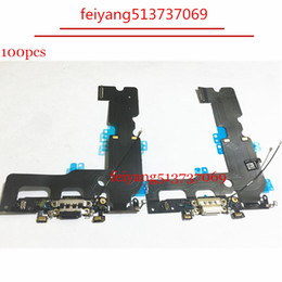 100pcs OEM Charger Charging Port USB Dock Connector For iPhone 7 7G  7 plus Headphone Audio Jack Flex Cable