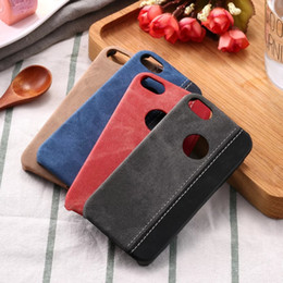 Splice Denim Contrast Color Case for iPhone5 5s SE Matte Hard Back Cover for iPhone5G Portective Business Phone Cases
