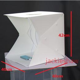 Promotion photo boîte de tente 40 * 40 * 42CM Photo Studio Flash Diffuseurs Portable Mini Photographie Kit Boîte à lumière Softbox Photographique avec Backdrops photo lumière tente