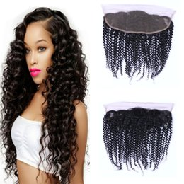 Brazilian Curly Virgin Hair Weave Grade 8A Natural Color Unprocessed Curly 13*4 Lace Frontal Human Hair extensions Factory Price