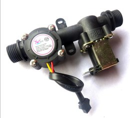 Wholesale NEW G1 Water Control Machine Water Flow Hall Sensor IC Card Automatic Billing Flowmeter With Solenoid Valve