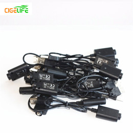 Wholesale NEW ARRIVAL USB Chargers for EGO ECIG vaporizer battery Cable E cig USB charger for ego ego T electronic cigarette Healthy E cigarette