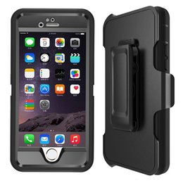 Wholesale Heavy Duty Layer Built in Touchable Screen Protector Dustproof and Shockproof Hybrid Hard Shell Cover with Belt Clip Kickstand for iPhone