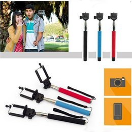 Z07-1Self-timer Mobile phone Extendable Ski Pole Handle Telescopic Monopod With Tripod Mount For Camera mobile phone for smartphone