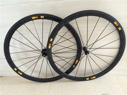 Wholesale 38mm c Road Carbon Racing Clincher Wheelset Holes Basalt Brake Surface Sapim Cx ray Spokes