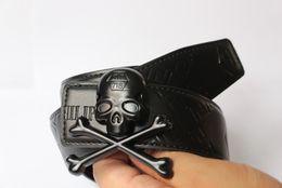 Les femmes pirates ceintures en Ligne-2016 designer ceintures hommes haute qualité hommes femmes ceintures luxe Gros boucle homme designer cuir ceinture hommes PHILIPP PLEIN Ceinture qp87 Pirates