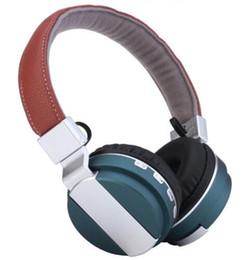Wholesale wireless bluetooth headset wearing headphones earphone BT type belt card FM bluetooth three big functions