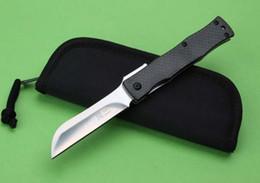 Wholesale high end HIGONOKAMI Japen knife D2steel blade TC4 ally fiber handle HRC black nylon bag