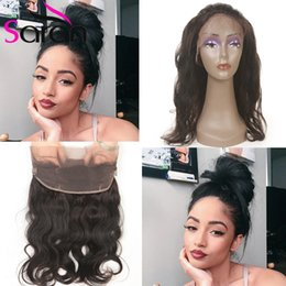 Wholesale Hot sale pre plucked lace frontal closure with baby hair with bundles A Brazilian Body Wave Beauty frontal with bundles