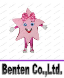 Wholesale pink star mascot star girl mascot costume adult size kids activities performing costumes holiday carnival fancy dress kits LLFA