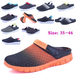 2017 New Hot Sale Beach Sandals Spring Summer Autumn Men And Women Slippers Flats Shoes Breathable Mesh Hollow Out Sandals Leisure Shoes Uni