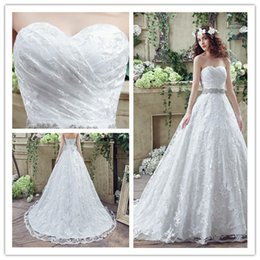 2018 Lace Long Sweetheart Train Women Bridal Gowns Floor Length Appliques Big Girls Pageant Party Catwalk Celebrity Wedding Dresses