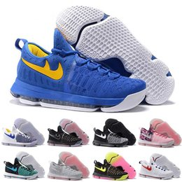 Promotion kd chaussures de vente mens (Avec boîte) Hot Sale Nouveau KD 9 Toutes les chaussures de basket-ball pour hommes blancs KD9 Oreo Loup gris Kevin Durant 9s Sports d'entraînement sportifs Sports Warriors Home