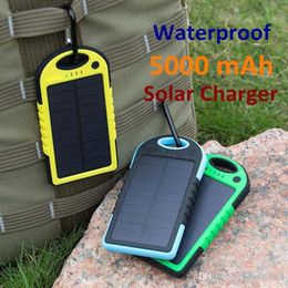 50PCS Universal 5000mAh Solar Charger Waterproof Solar Panel Battery Chargers for Smart Phone PAD Tablets Camera Mobile Power Bank Dual USB