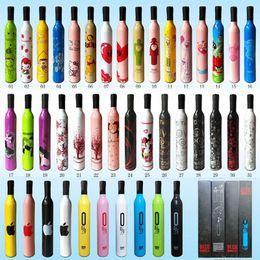 Wholesale Fashion Wine Bottle Umbrella New Novelty Design Umbrella Personalized Clear Rain Umbrella Super Cute And Compact Manually Rain Use Tool F139