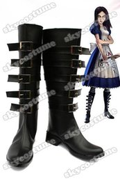 Wholesale Alice Madness Returns Default Cosplay Boots Shoes