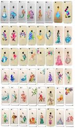 Wholesale Princess Snow White Cinderella Little Mermaid Mickey Minnie Ariel Tinker Bell Watercolor Hard Plastic PC Case For iPhone C SE Plus