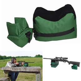 Wholesale Portable Shooting Rear Gun Rest Bag Set Front Rear Rifle Target Hunting Bench Unfilled Stand Hunting Gun Accessories