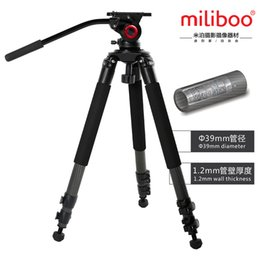 2017 soportes de cámaras digitales 2016 New miliboo MTT701B Trípode Profesional Portable fibra de carbono trípode cámara soporte con cabeza fluida para Digital Dslr presupuesto soportes de cámaras digitales