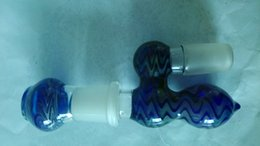 New glass bowl for glass bong water pipe joint size 18.8mm stuffed smoked silver blue green suction pipe