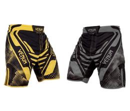 Wholesale Quality goods MMA TECHNICAL FIGHT SHORTS GREY Muay Thai Boxing shorts Orange