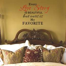 Our Love Story is my Favorite Quotes Vinyl Wall Decals Stickers Art Murals for Living Room Bedroom Decor