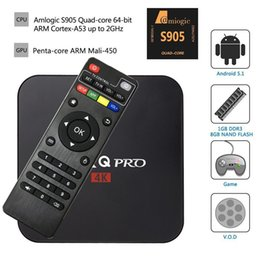 Wholesale Android TV Box MXQ pro Quad Core G G Amlogic S905X Bluetooth Smart TV Box suport WIFI D SD