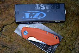 2017 bolas de rodamiento Zero tolerancia ZT 0456 D2 cuchillo plegable táctico G10 que acampa cuchillo de bolsillo de la supervivencia de la caza Utilidad militar EDC Flipper rodamiento de bolas Systerm bolas de rodamiento en venta