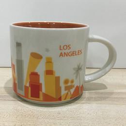 14oz Capacity Ceramic Starbucks City Mug American Cities Best Coffee Mug Cup with Original Box Los Angeles City