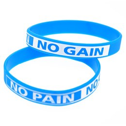 Hot Sell 1PC NO PAIN NO GAIN Motivation Silicone Wristband Great For Daily Reminder By Wearing This Bracelet