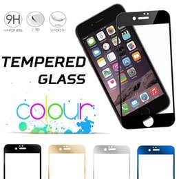 Tempered Glass Screen Protector Colorful Flim Guard Protective Premium Plating Mirror 9H Hardness Anti-shatter For iPhone 8 7 Plus 6 6S 5S 5