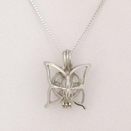 Can Open & Hold Pearl Gem Beads Locket Cage Butterfly Style Charm Pendant Mountings For DIY Bracelet Necklace Jewelry