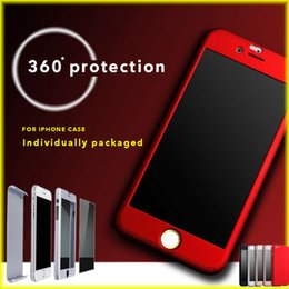 Wholesale For iPhone s s All inclusive degree Phone Case Anti drop Scrub PC Hard Case with Opp Package via DHL