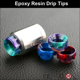 Wholesale The Best electrical cigarette drip tips Epoxy Resin Wave Drip Tips Mix Color