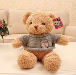 2017 Nouvelle Arrivée Giant Teddy Bear Sweater Tissu Poupées Unisex Peluche Peluche Marron Châtaigne Couleur Haute Qualité Cadeau Jouets à partir de géant ours brun stuff toy fabricateur