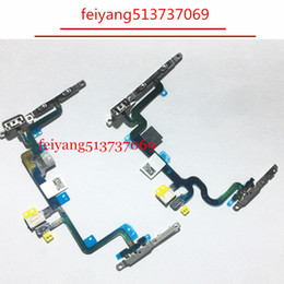 """10pcs 100% new Power On Off Volume Button Switch Flex Cable With Metal Bracket For iPhone 7 4.7"""" 7 Plus 5.5 Repair Parts"""