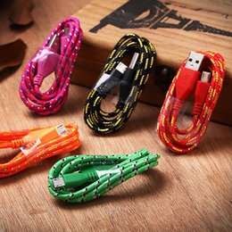 Micro USB Cable Braided Noodle Flat USB Cord For Samsung,HTC,ZTE and other android phones Cable High Speed Nylon Braided Colorful Cable