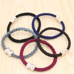 Jmyy Jewelry New Hair Accessories Bowknot Multicolor knitted Hair Rubber Bands Elastic Hair Jewelry For Women
